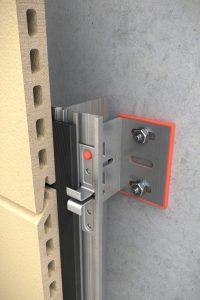 sistema de fijación FTS 502-B para fachadas ventiladas de Louvelia destinado a revestimientos de terracota WindWall